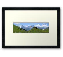 Mountain signpost Framed Print
