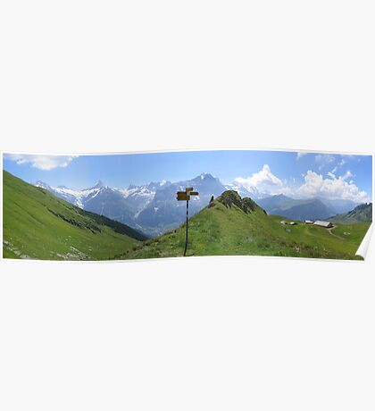 Mountain signpost Poster
