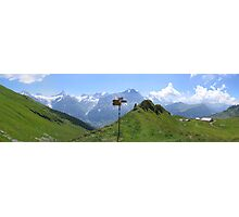 Mountain signpost Photographic Print
