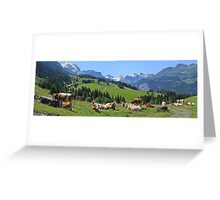 Cows above Wengen Greeting Card