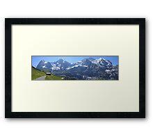 Eiger, Monch, and Jungfrau Framed Print