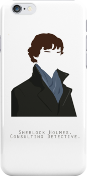 Sherlock iPhone case by voiceonfire