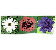 Flower Trio Poster