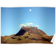Mount Imbabura Under a Full Moon Poster