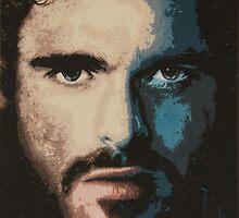 Acrylic Painting of Rob Stark by Matthew Duckworth