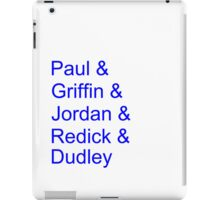 '13-'14 Clippers Lineup iPad Case/Skin