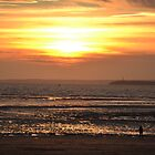 Sunset at Weston Super Mare by Elinor Barnes