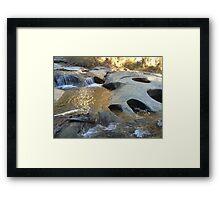 Indians in the Rocks Framed Print