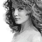 Female head study #2 by Daniel Rodgers