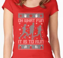Fun To Run Ugly Christmas Tee Women's Fitted Scoop T-Shirt