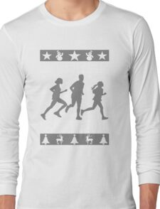 Fun To Run Ugly Christmas Tee Long Sleeve T-Shirt