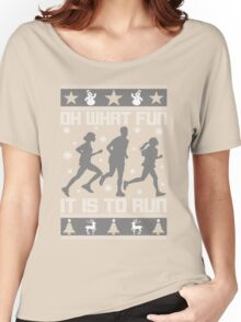 Fun To Run Ugly Christmas Tee Women's Relaxed Fit T-Shirt