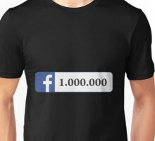 Facebook 1 Million Likes, Friends and Views Unisex T-Shirt