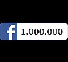 Facebook 1 Million Likes, Friends and Views by SKpixel
