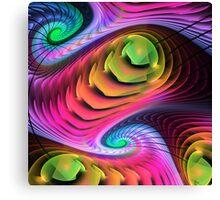 Colourful Spirals, abstract fractal art Canvas Print