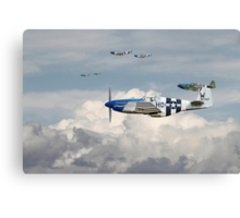 P51 Mustang - Blue Noses - 352nd FG Canvas Print