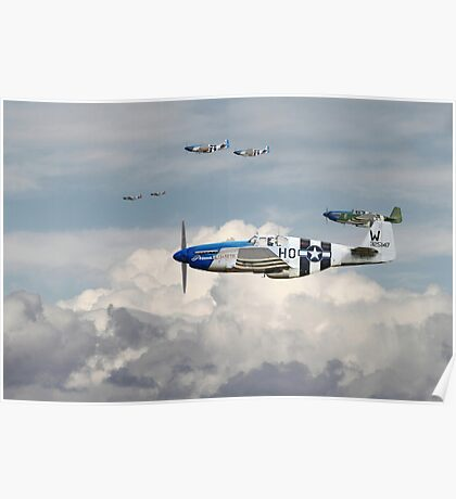 P51 Mustang - Blue Noses - 352nd FG Poster