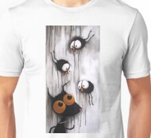 Stressie Cat and the crows Unisex T-Shirt