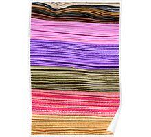 Linen Stripes at the Otavalo Market Poster