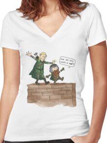 Legolas & Gimli Women's Fitted V-Neck T-Shirt