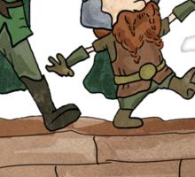 Legolas & Gimli Sticker