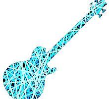 Bass Guitar Blue Stripes by George Barwick