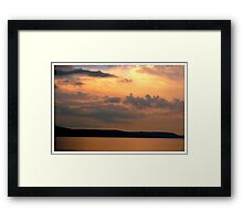 Dusk at Looe, Cornwall Framed Print