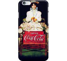 Coca Cola iPhone Case Woman in White iPhone Case/Skin