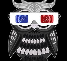Owl - 3D Glasses - Black by Adamzworld