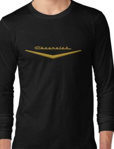 1957 Chevrolet Hood Script Long Sleeve T-Shirt