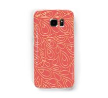 Gold and coral pattern Samsung Galaxy Case/Skin