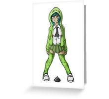 Creeper Girl Greeting Card