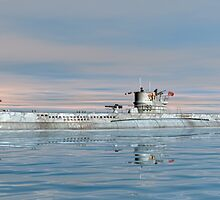 German Submarine U-99 by Walter Colvin