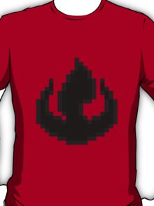 8bit Fire Nation Emblem - 3nigma T-Shirt