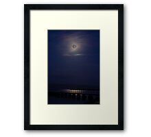 Jetty at Gigha, in moonlight Framed Print