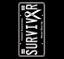 Cancer Survivor License Plate by Samuel Sheats