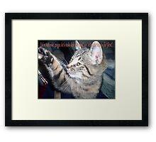 cat humour Framed Print