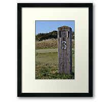Moonah Links Series #82 Framed Print
