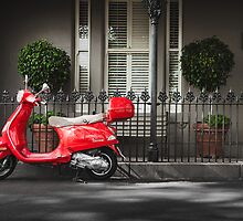 Red Vespa by jamjarphotos