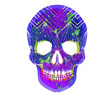 Uber Colour Skull -Print by ninablah