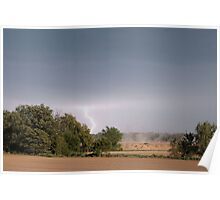farm land with lightning  Poster