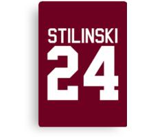 Stiles Stilinski's Jersey - white text Canvas Print