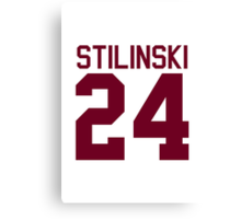 Stiles Stilinski's Jersey - maroon/red text Canvas Print