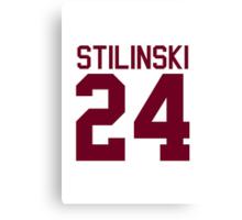 Stiles Stilinski's Jersey - maroon/red text Canvas Print