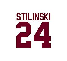 Stiles Stilinski's Jersey - maroon/red text Photographic Print