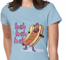 Naughty Hot Dog Womens Fitted T-Shirt