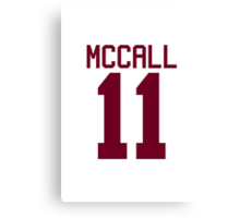 Scott McCall's Jersey - maroon/red text Canvas Print