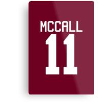 Scott McCall's Jersey - white text Metal Print