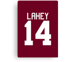 Isaac Lahey Jersey - white text Canvas Print