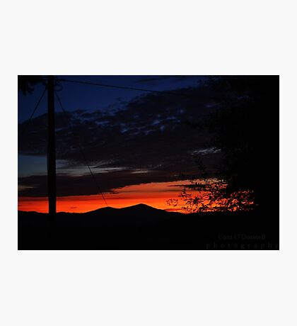 Autumnal Sunset Photographic Print